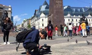 Китайские журналисты снимают шоу о Приморье