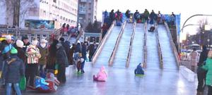 В Приморье подростки-вандалы разрушали ледовый городок
